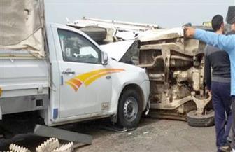 مصرع وإصابة 5 سيدات في تصادم سيارة نقل عمال في الدقهلية