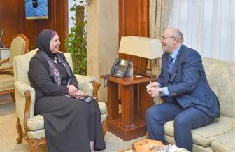 وزيرة التجارة تبحث مع سفير المغرب بالقاهرة تعزيز أواصر التعاون الاقتصادي
