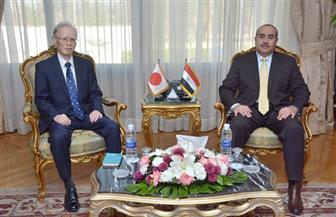 وزير الطيران المدني يستقبل سفير اليابان بالقاهرة | صور