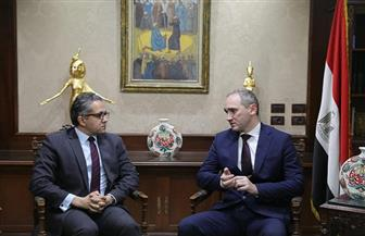 وزير السياحة والآثار يبحث مع سفير بيلاروسيا بالقاهرة سبل التعاون المشترك| صور