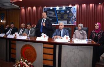 رئيس جامعة طنطا: فرق خاصة للمتابعة والوقاية من فيروس كورونا | صور