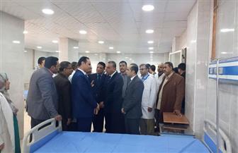افتتاح أقسام جديدة بمستشفى سوهاج العام   صور