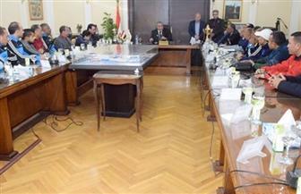 وزير التموين يلتقي بأعضاء مجلس إدارة اللجنة الرياضية بوزارة التموين والتجارة الداخلية
