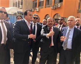 وزير التعليم العالي يتفقد الإنشاءات بمستشفيات جامعة طنطا | صور
