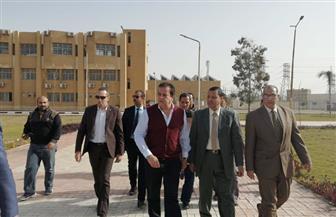 وزير التعليم العالي يتفقد مقر جامعة الدلتا التكنولوجية بقويسنا|صور