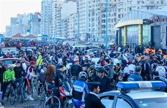 انطلاق المهرجان الرياضي للدراجات على كورنيش الإسكندرية بمشاركة 1500 شاب  صور