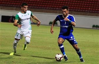 صلاح محسن يحتفل بأول أهدافه مع سموحة على طريقة «نمبر وان»