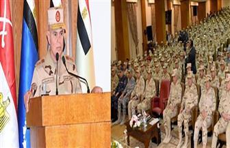 رئيس أركان حرب القوات المسلحة يلتقي بالضباط المعينين لتولي المناصب القيادية