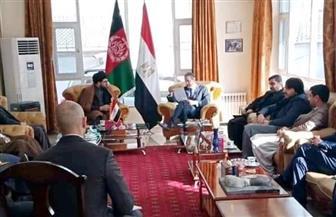 سفير مصر في كابول يستقبل رئيس لجنة العدالة والقانون بمجلس النواب الأفغاني