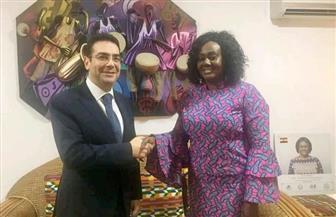سفير مصر في أكرا يبحث مع نظيره الغاني التعاون الثقافي بين البلدين | صور