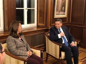 سفير مصر بالنمسا يستقبل غادة والي | صور