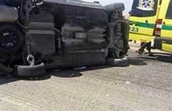 إصابة 3 مواطنين بحادث على الطريق الصحراوي في البحيرة