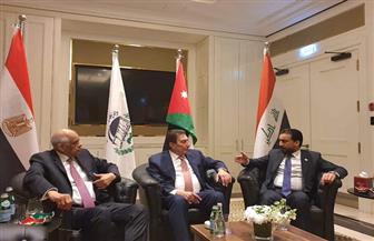 """""""عبدالعال"""" يجتمع مع رئيسي برلمان الأردن والعراق صور"""