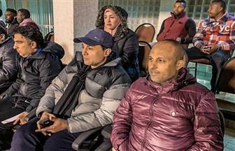 طارق مصطفى وأحمد أيوب يحضران مباراة المقاصة والإنتاج