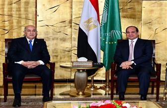 الرئيس السيسي يلتقى نظيره الجزائري ويؤكد موقف مصر الداعم للجزائر في مواجهة الإرهاب|صور