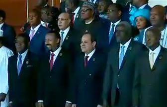 صورة تذكارية للرئيس السيسي والقادة والزعماء المشاركين بقمة الاتحاد الأفريقي