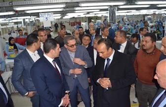 نائب محافظ المنيا ورئيس هيئة الاستثمار يتفقدان المنطقة الصناعية