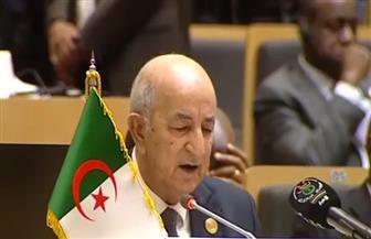 الرئيس الجزائري يشكر الرئيس السيسي.. ويؤكد أهمية الحلول السلمية لقضايا القارة الإفريقية
