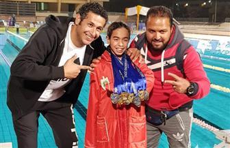 كنزى كريم أشرف تحصد المركز الأول ببطولة الجيزة الشتوية لناشئ وناشئات السباحة
