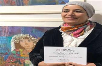 """القومي للمرأة يهنئ الفنانة هالة الشافعي بحصولها على جائزة إنجليزية عن لوحة """"الفتاة العروسة"""" عن الزواج المبكر"""