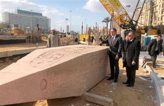 وزير السياحة والآثار يتفقد أعمال تطوير ميدان التحرير