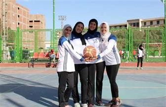 فوز 6 جامعات في مباريات كرة السلة بأسبوع الجامعات الأول في سوهاج| صور