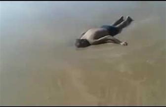 انتشال جثة شاب غرق ببحر كتشنر فى كفر الشيخ