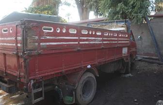 ضبط 10 سيارات نقل تلقى مخلفات الرتش فى شوارع الجيزة | صور
