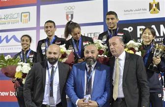 مصر تتوج بذهبية وفضية الزوجي المختلط في كأس العالم للخماسي الحديث| صور