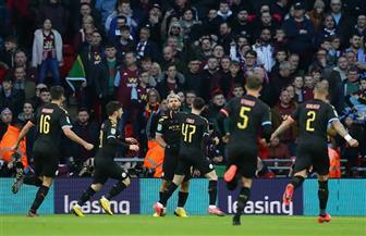 مانشستر سيتى يتوج بطلا لكأس الرابطة الإنجليزية بالفوز على أستون فيلا بمشاركة المحمدى وتريزيجيه | صور