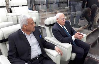 محافظا بورسعيد والسويس يحضران مباراة المصري ونهضة بركان على إستاد السويس