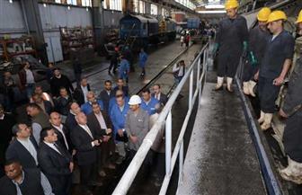 وزير النقل يتابع أعمال العمرة الجسيمة لـ41  جرار «EMD» | صور