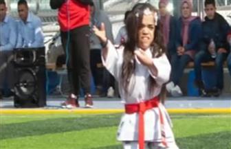 بسملة بطلة الجمهورية في الكاراتيه .. هكذا انتصرت على التنمر ورفعت علم مصر | فيديو