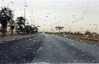 """""""المرور"""": هطول أمطار خفيفة على بعض الطرق.. وغلق طريق """"أسوان - أبو سمبل"""""""