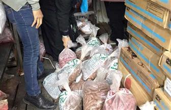 مصادرة 150 كيلو لحوم مجمدة مخالفة للشروط الصحية في باب الشعرية
