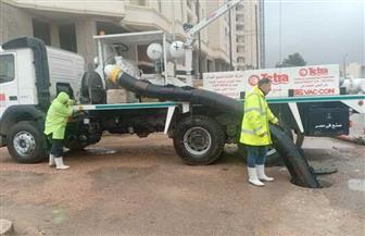 الإسكندرية تدفع بسيارتي سيول لمواجهة آثار الطقس السيئ | صور