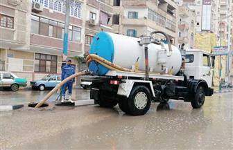 أمطار غزيرة رعدية بالفيوم.. والمحافظ يتفقد الشوارع | صور
