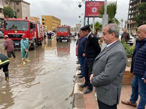 مدير أمن الغربية يتفقد أعمال رفع مياه الأمطار بمساهمة معدات الحماية المدنية | صور