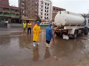 غرفة عمليات الشركة القابضة لمياه الشرب تتابع أعمال سحب المياه |فيديو وصور