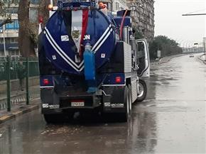 استنفار أمني بشوارع الجيزة بسبب حالة الطقس السيئ