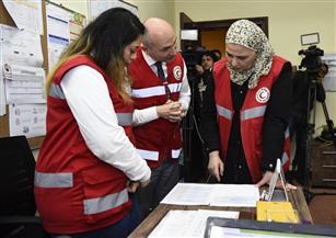 القباج تزور الهلال الأحمر لمتابعة خطة الطوارئ لمواجهة الطقس السيئ |صور