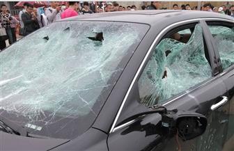 بسبب الطقس السيئ.. تحطم سيارة على كورنيش الإسكندرية