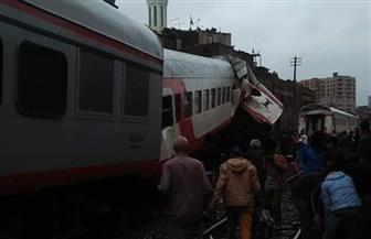 الصحة: إصابة 13 في حادث تصادم قطارى الصعيد
