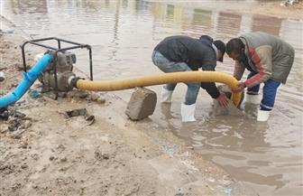 استمرار تساقط الأمطار على مطروح والأجهزة التنفيذية ترفع تراكمات المياه  صور