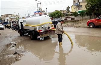 محافظ كفر الشيخ يتفقد كسح مياه الأمطار من شوارع مدينة دسوق | صور