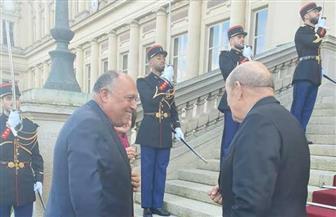 شكري يسلم رسالة موجهة من الرئيس السيسي للرئيس الفرنسي  حول سد النهضة | صور