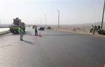 إغلاق الطريق الدائرى لوجود تجمعات مياه بمنطقة أبراج سما