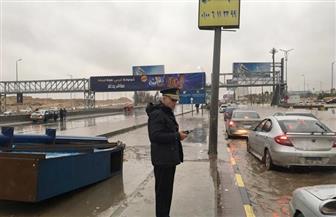 مساعد وزير الداخلية للمرور يتابع شفط مياه الأمطار أسفل كوبري بلبيس | صور