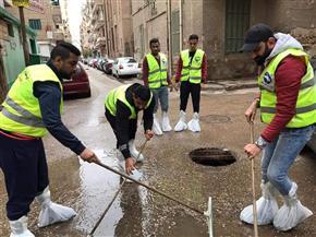 محافظ الإسكندرية: الاستعانة بسيارات الحي والصرف لشفط المياه الزائدة