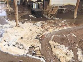 السيول تجتاح أبورديس.. وإجلاء 100 من العالقين على الطريق الدولي | صور
